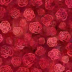"Springs Creative Sacre Coeur Roses Are Red 43"" wide Fabric by the Yard"