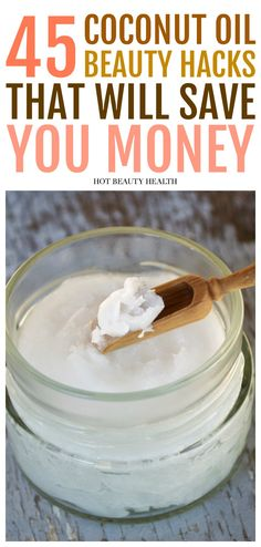 45 Awesome Coconut Oil Beauty Hacks and Tips. From skincare, hair care, makeup, face, health/wellness and making all kinds of diy beauty recipes. These hacks will help you save money on beauty products in the long run! Hot Beauty Health #coconutoil #beautyhacks #beautytips #diybeauty #skincare #beauty
