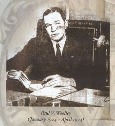 16th Chief of Police Paul V. Woolley (January 1924 - April 1924)