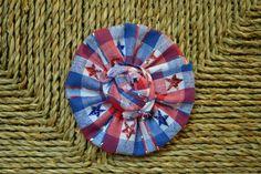 Plaid Stars fabric ruffle - 4th of july