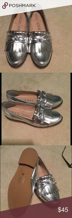 Sole Society Flat Stylish, funky loafer. Could style with many different outfits. Sole Society Shoes Flats & Loafers