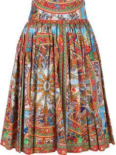 DOLCE & GABBANA - print pleat skirt 1