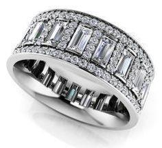 Luxurious Diamond Eternity Ring Style No.: EB1047 #DiamondEternityRings
