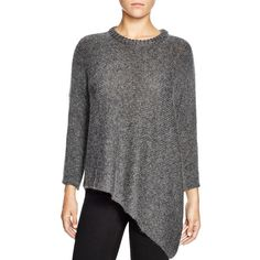 Eileen Fisher Asymmetric Sweater ($348) ❤ liked on Polyvore featuring tops, sweaters, charcoal, eileen fisher tops, eileen fisher, asymmetrical top, asymmetrical sweater and charcoal sweater