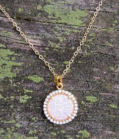 Gorgeous druzy necklace