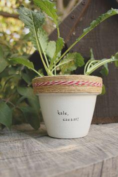 Kale, Caesar! by PlantPuns on Etsy