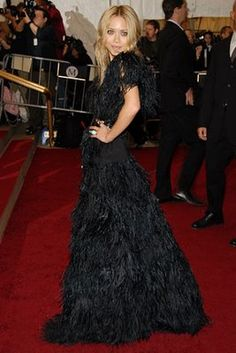 beautiful black feather dress