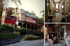 Location: Jim Thorpe, PennsylvaniaPrice: $1,750,000Bedrooms: n/aBathrooms: n/aSquare Footage: approx. 4,500Speaking of the film The Haunted Mansion, the website for the 1874 Harry Parker Mansion claims it was the inspiration for the Disneyworld ride The Haunted Mansion. It was built as a wedding gift from Harry's father Asa Parker, the railroad baron and founder of Lehigh University, and it's now a bed and breakfast and events space. Instead of 999 ghosts, the Victorian mansion (which was…
