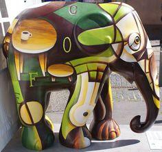 Title: Relax Artist: Cherdsak Wanprachayanon Location: Axeltorv African Forest Elephant, Asian Elephant, All About Elephants, Elephas Maximus, Elephants Photos, City Events, Elephant Parade, Mammals, Painted Elephants