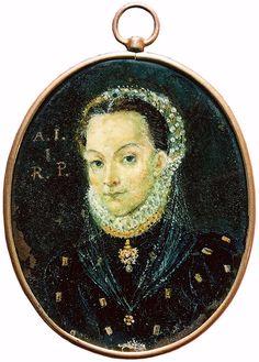 Miniature of Anna Jagiellon by Anonymous from Poland, ca. 1576 (PD-art/old), Muzeum Zamkowe w Pszczynie