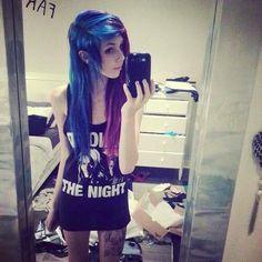Blue and purple scene hair Blue Purple Hair, Wacky Hair, Emo Scene Hair, Bright Hair, Colorful Hair, Alternative Hair, Scene Girls, Dream Hair, Love Hair