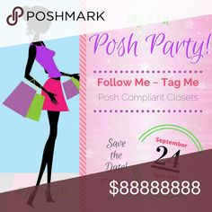 🎉Best in Shoes & Boots Party🎉Sept 24 @12PT/3pmET LOOKING FOR NEW CLOSET HPs for Best in SHOES & BOOTS! Please tag me here or in the new Posher listing, thanks!  Posh Compliant closets only - NO PERFUME, LOTIONS etc! Please Follow me, Share this listing, and Tag your friends below! 👡👠👢👞 I'm so excited for my first Posh Party! 🎉🎉🎉Co-hosting with my PFF @crystallavery 👯 It's sure to be a blast! Please share the news and plan to browse, share, shop! 🛍Get ready for a great time! 💖…