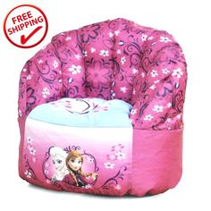 Disney New Frozen Princess Seat Sofa Elsa & Anna Bean Bag Chair for Girls #Disney #FrozenPrincess