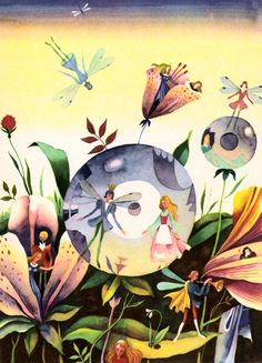 Сказочные Иллюстрации: Виктор Пивоваров - Дюймовочка*