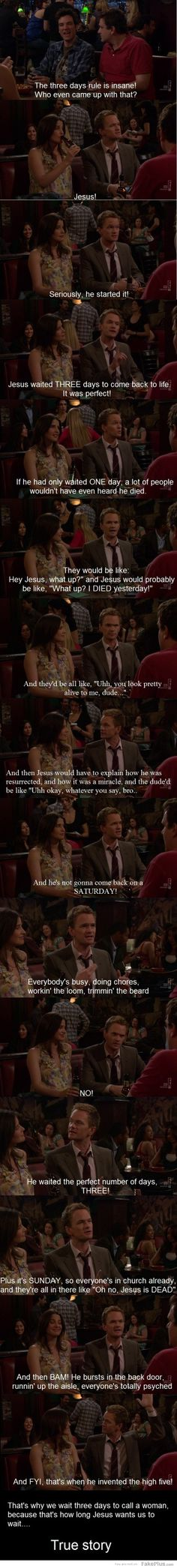 I have pinned this before. I will pin it again front contender for best HIMYM joke!