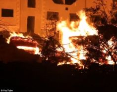 Syria: Activists claimed that the raging fires were the result of 20 barrels of napalm being dropped on Darayya