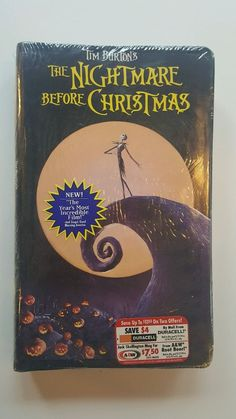 Tim Burton's The Nightmare Before Christmas VHS Sealed Clamshell 1994 Free Ship! | DVDs & Movies, VHS Tapes | eBay!