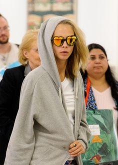 September Cara Delevingne at Heathrow Airport in London. Cara Delevingne, Actresses, Model, Heathrow Airport, September 9, London, Woman, Amazing, Fashion