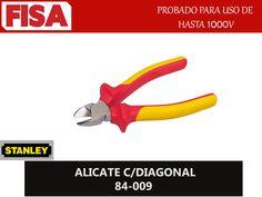 ALICATE C/DIAGONAL 84-009. Probado para uso de hasta 1000V- FERRETERIA INDUSTRIAL -FISA S.A.S Carrera 25 # 17 - 64 Teléfono: 201 05 55 www.fisa.com.co/ Twitter:@FISA_Colombia Facebook: Ferreteria Industrial FISA Colombia