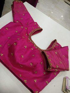 Simple minimal embroidered blouse - #blousedesigns #blousedesignsBrocade #blousedesignsFashion #blousedesignsShagun