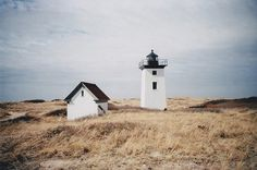 little square lighthouse.