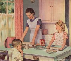 Винтажные картинки для творчества. Домохозяйки (17) (554x480, 158Kb)