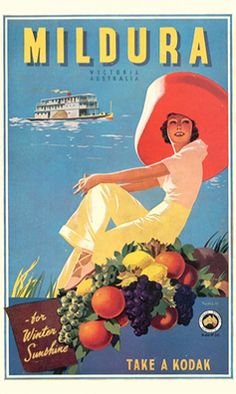 Australian vintage poster  - for more inspiration visit http://pinterest.com/franpestel/boards/