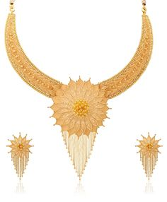 Buy Senco Gold 22k Yellow Gold Multi-Strand Necklace Online at Low Prices in India | Amazon Jewellery Store - Amazon.in