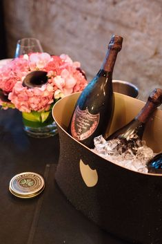 Dom Perignon Rose served with BLT bites with paddlefish roe Drinkware, Barware, Don Perignon, Blt Bites, Perfect Glass, Vintage Champagne, Simple Pleasures, Caviar, Bartender