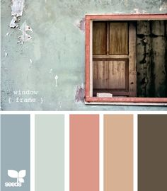 color palette   Thinking green grey and orange