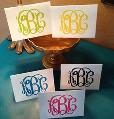 Monogrammed Stationery, monogrammed note cards, monogrammed stationary, monogrammed thank you notes, personalized notes on Etsy, $12.50