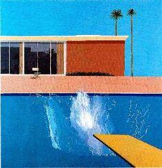 A Bigger Splash is a large pop art painting by British artist David Hockney