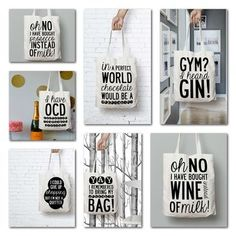 Prosecco Slogan Tote Bag. Free Delivery