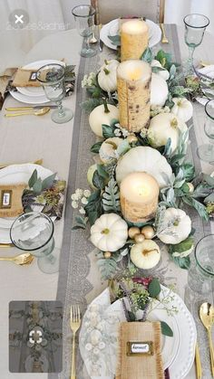 15 Best Fall Dining Table Decor Ideas You Can Copy This Season. Dress up your dining table with fall decor. Just a mini-pumpkin and some faux& The post 15 Best Fall Dining Table Decor Ideas You Can Copy This Season appeared first on Patisapta. Fall Table Settings, Elegant Table Settings, Thanksgiving Table Settings, Christmas Table Settings, Setting Table, Thanksgiving Wedding, Beautiful Table Settings, Thanksgiving Crafts, Rustic Thanksgiving