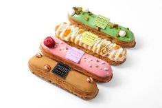 Éclairs by Joakim Prat (Maître Choux) are one of the most requested desserts in London right now. Here is the Joakim's magical recipe: Choux… Eclairs, Profiteroles, French Desserts, Mini Desserts, Delicious Desserts, Dessert Restaurants, Choux Pastry, French Pastries, Macaroons