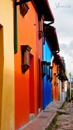 Colorful Bogota, Calle Colores by Julian Andres Carmona Serrato on Beautiful Streets, Beautiful Places To Visit, Places To See, Trip To Colombia, Colombia Travel, Central America, South America, Latin America, Vacation Destinations