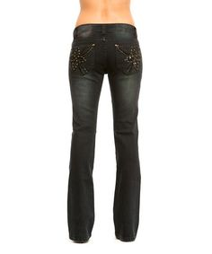 Another great find on #zulily! Black Berry Sabrina Bootcut Jeans by RED by Rose Royce #zulilyfinds