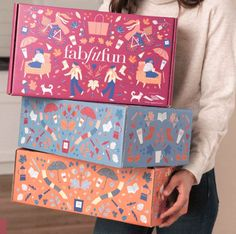 Customization & Choice Items for the FabFitFun Fall 2018 box have been released! Food Packaging Design, Packaging Design Inspiration, Brand Packaging, Graphic Design Inspiration, Branding Design, Box Packaging, Label Design, Box Design, Fab Fit Fun Box