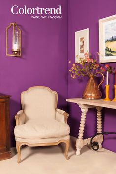Niamh MacGowan Designs at the Colortrend Interior Design Forum Spring 2015. Walls: Berry Patch 1152 in Colortrend Interior Matt finish. www.colortrend.ie