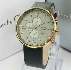 Jam Tangan Pria Alexandre Christie AC 6415 Gold Grey Original