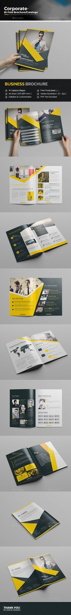 Corporate Business Brochure Template Vector EPS, AI. Download here: http://graphicriver.net/item/corporate-business-brochure/15657302?ref=ksioks