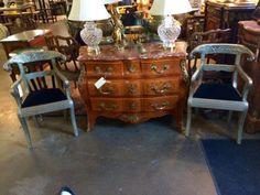 Remarkable Pair of Anglo Raj Wedding Chairs   Dealer #0108  $1328   Lucas Street Antiques Mall 2023 Lucas Dr.  Dallas, TX 75219  Like us on Facebook: https://www.facebook.com/lucasstreetanti
