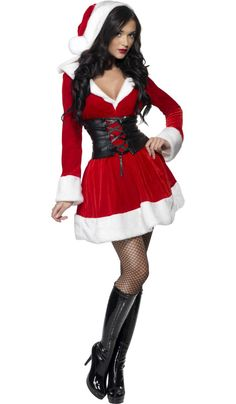 Fever Hooded Santa Costume £41.99  This Sexy Hooded Santa Costume will certainly keep out the cold this Christmas. Sexy Santa Costume. #sexysanta #christmascostume