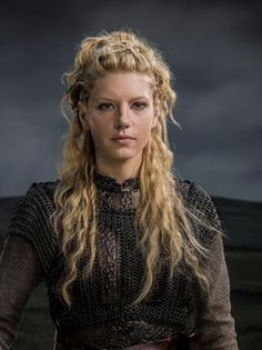 ... Katheryn Winnick adds all kinds of flair and variations to the braids that makes her look like she is Viking royalty.