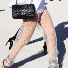 #chanel #bag #polka dots #heels