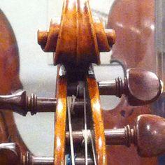 Scroll, 'Harrison' Stradivarius, 1693 Antonio Stradivari, Music Museum, Musical Instruments, Boxes, Guitar, Music, Music Instruments, Crates, Box