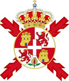 Lesser Coat of arms of Spain and of the Colours. Spanish Royalty, Chivalry, Crests, Coat Of Arms, Herb, Burgundy, Banner, Symbols, Colours