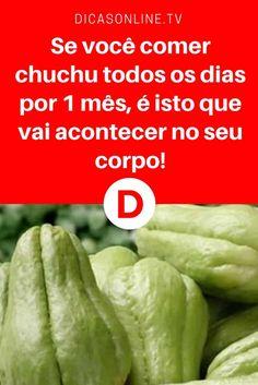 Chuchu | Se você comer chuchu todos os dias por 1 mês, é isto que vai acontecer no seu corpo! | Tem algo no chuchu que você ainda não sabe... Leia e saiba tudo ↓ ↓ ↓