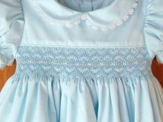 by ForTheLoveOfSmocking Smocking Baby, Smocking Patterns, Smocking Plates, Sewing Patterns, Smocked Baby Clothes, Girls Smocked Dresses, Smocked Clothing, Little Girl Outfits, Cute Outfits For Kids
