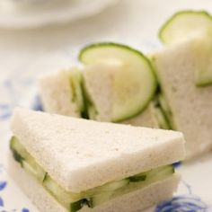Tarragon Butter & Cucumber Tea Sandwiches